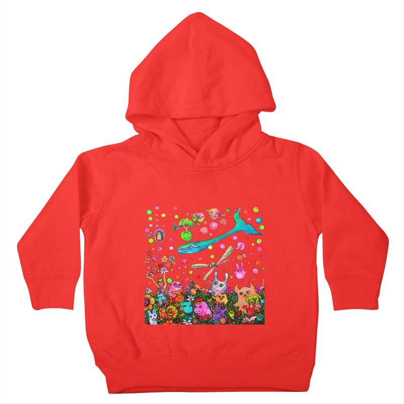 Polka Dots Kids Toddler Pullover Hoody by Katia Goa's Artist Shop