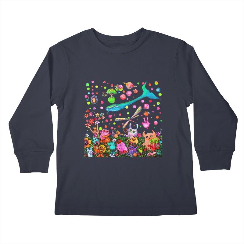 Polka Dots Kids Longsleeve T-Shirt by Katia Goa's Artist Shop