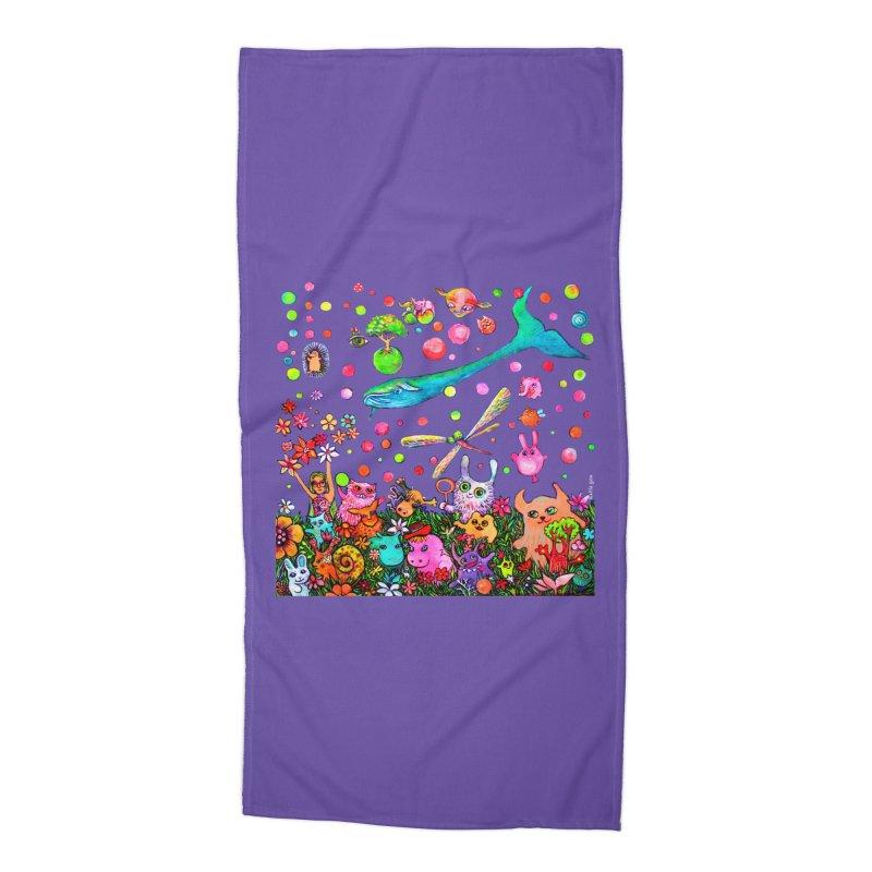 Polka Dots Accessories Beach Towel by Katia Goa's Artist Shop