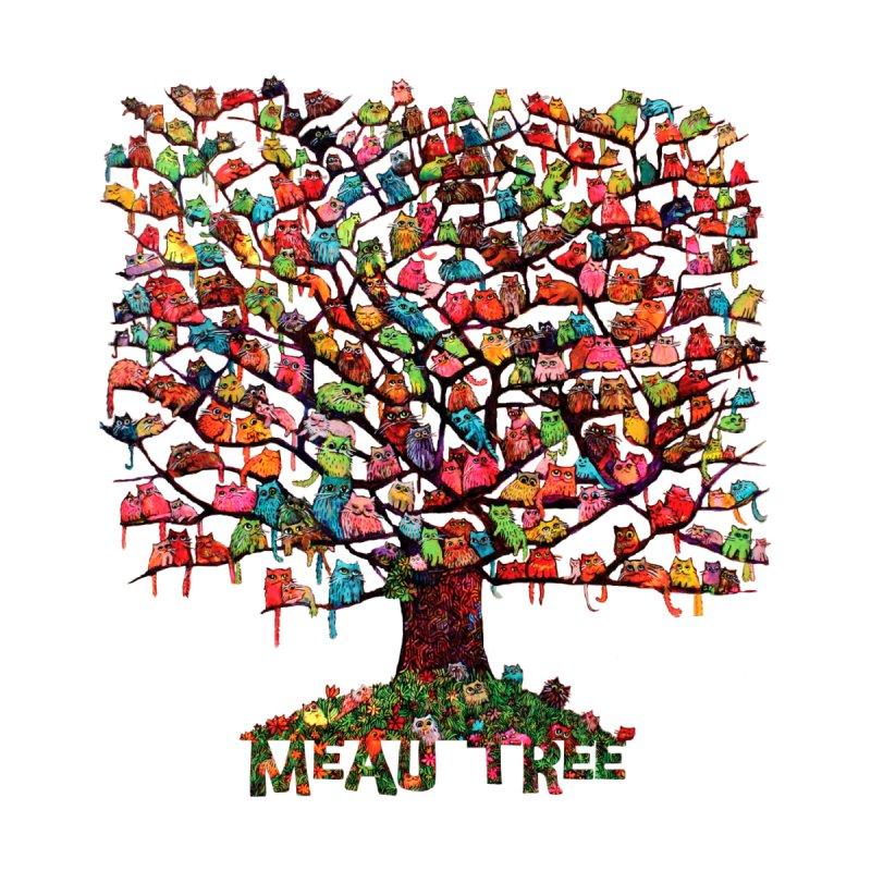 Meaw Tree Men's T-Shirt by Katia Goa's Artist Shop