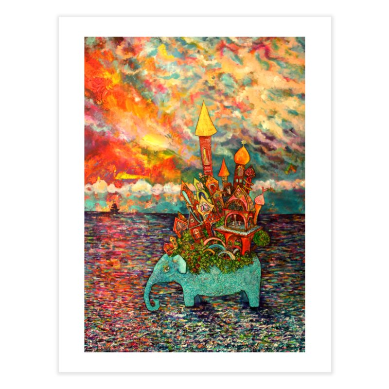 Warm Waters Home Fine Art Print by Katia Goa's Artist Shop