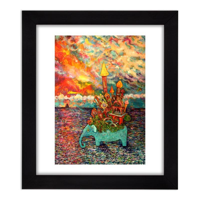 Warm Waters Home Framed Fine Art Print by Katia Goa's Artist Shop