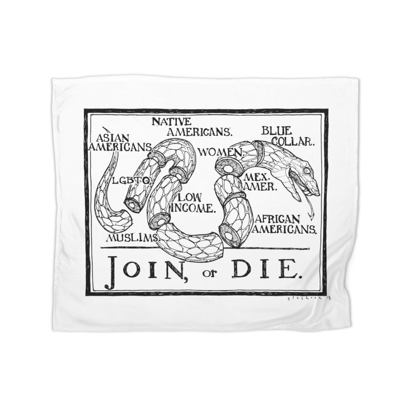 Join, or Die Home Blanket by Katiecrimespree's Ye Olde Shirt Shoppe