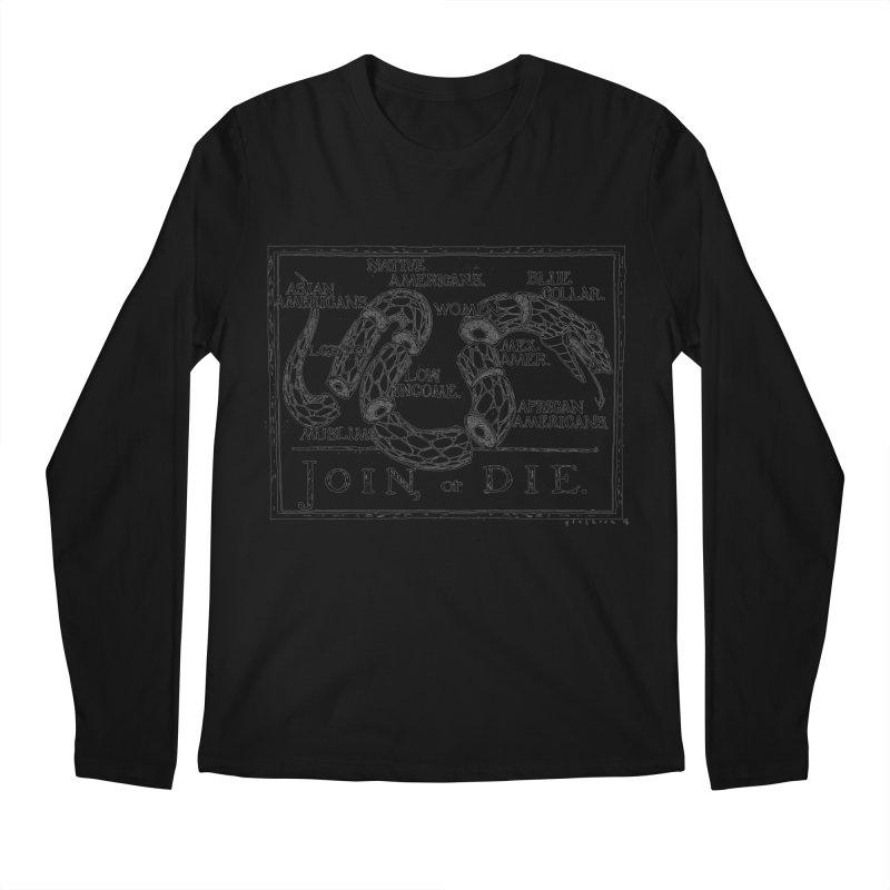 Join, or Die Men's Longsleeve T-Shirt by Katiecrimespree's Ye Olde Shirt Shoppe
