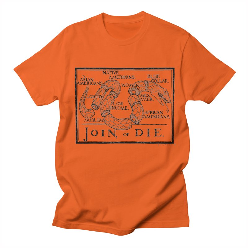 Join, or Die Men's T-Shirt by Katiecrimespree's Ye Olde Shirt Shoppe