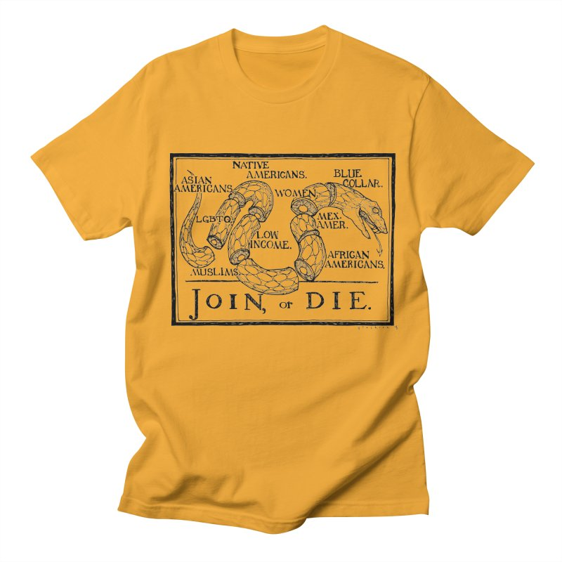 Join, or Die Women's Unisex T-Shirt by Katiecrimespree's Ye Olde Shirt Shoppe