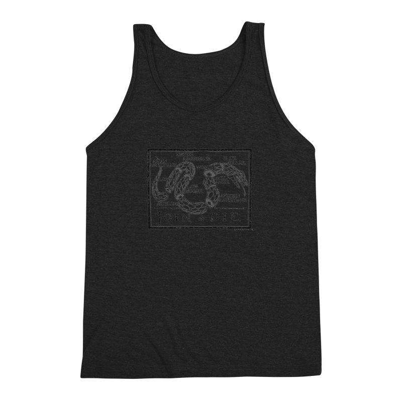 Join, or Die Men's Triblend Tank by Katiecrimespree's Ye Olde Shirt Shoppe