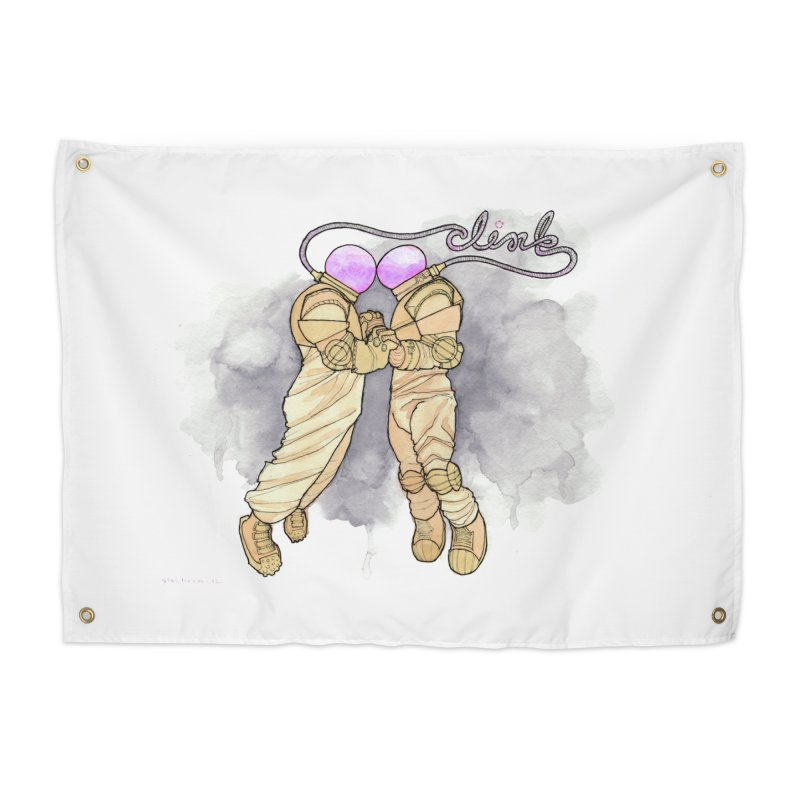 Astronaut Kiss [CLINK] Home Tapestry by Katiecrimespree's Ye Olde Shirt Shoppe