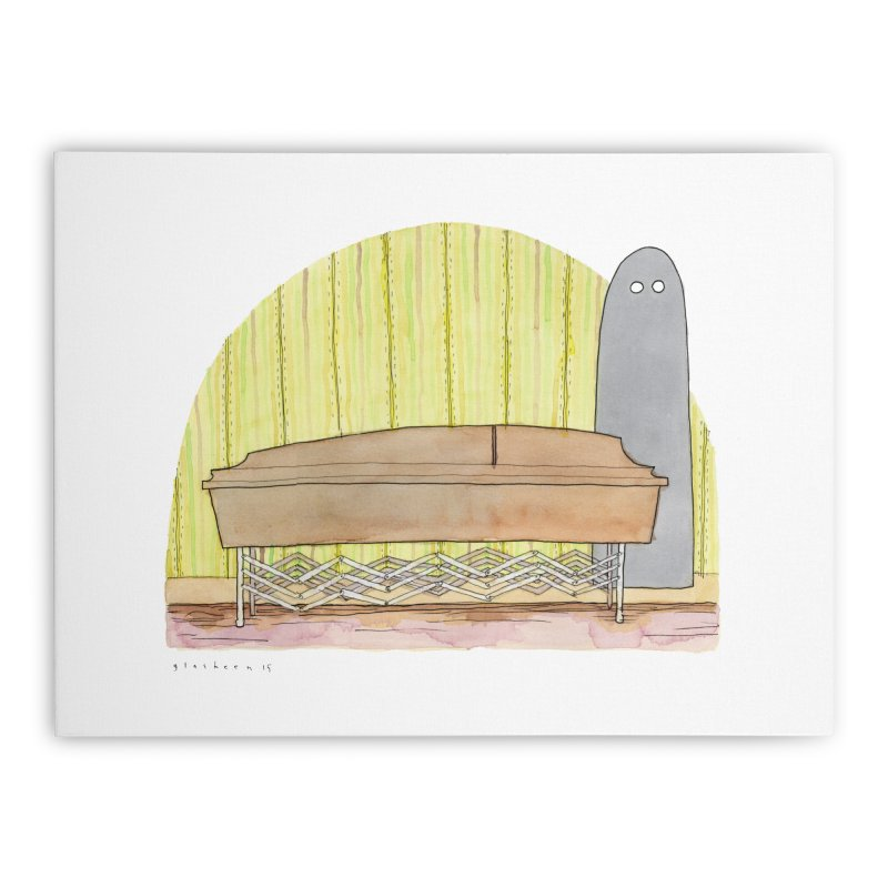 Funeral Peels Home Stretched Canvas by Katiecrimespree's Ye Olde Shirt Shoppe