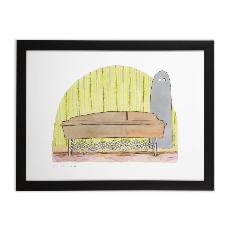 Funeral Peels Home Framed Fine Art Print by Katiecrimespree's Ye Olde Shirt Shoppe
