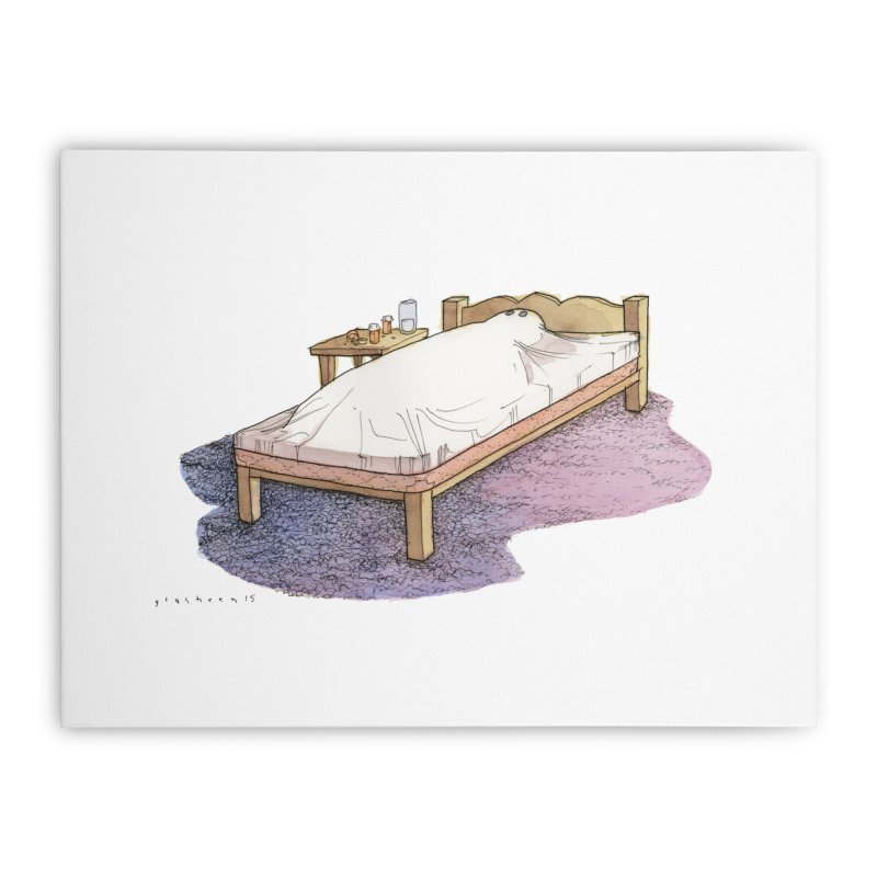 The Whiteness of Appalachian Sheets Home Stretched Canvas by Katiecrimespree's Ye Olde Shirt Shoppe