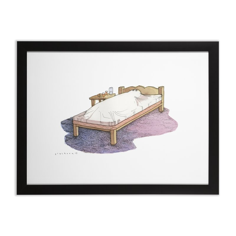 The Whiteness of Appalachian Sheets Home Framed Fine Art Print by Katiecrimespree's Ye Olde Shirt Shoppe