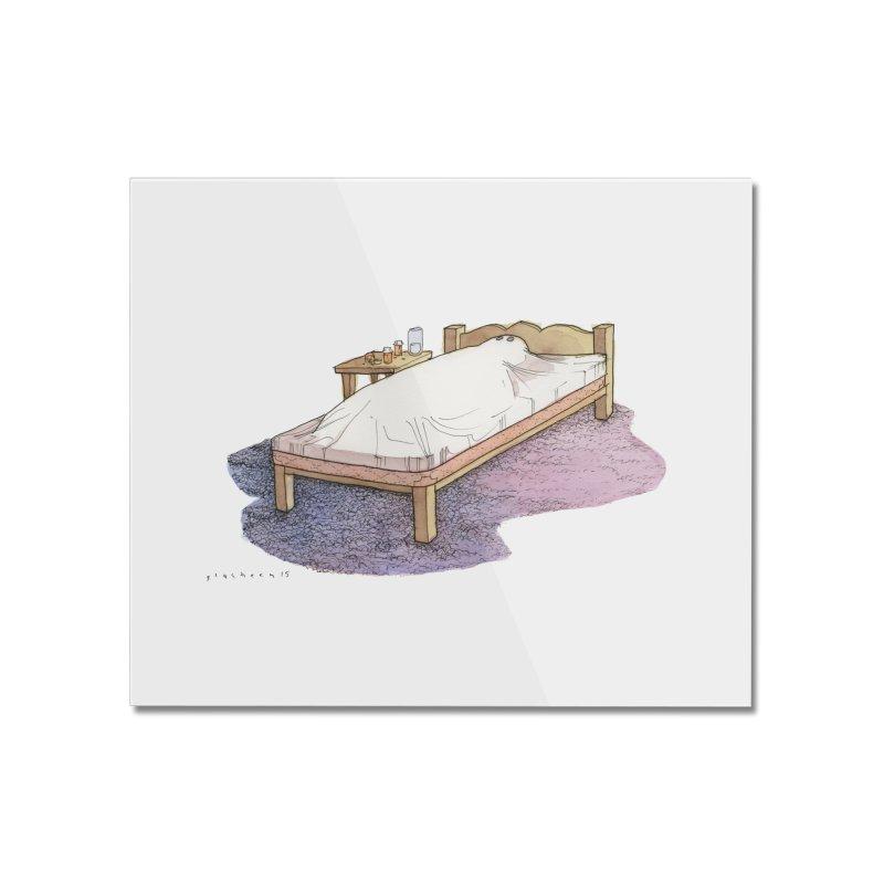 The Whiteness of Appalachian Sheets Home Mounted Acrylic Print by Katiecrimespree's Ye Olde Shirt Shoppe