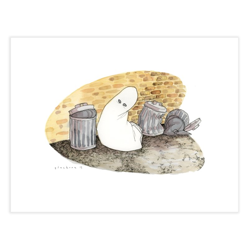 Throw Out, Give Up [the ghost] Home Fine Art Print by Katiecrimespree's Ye Olde Shirt Shoppe