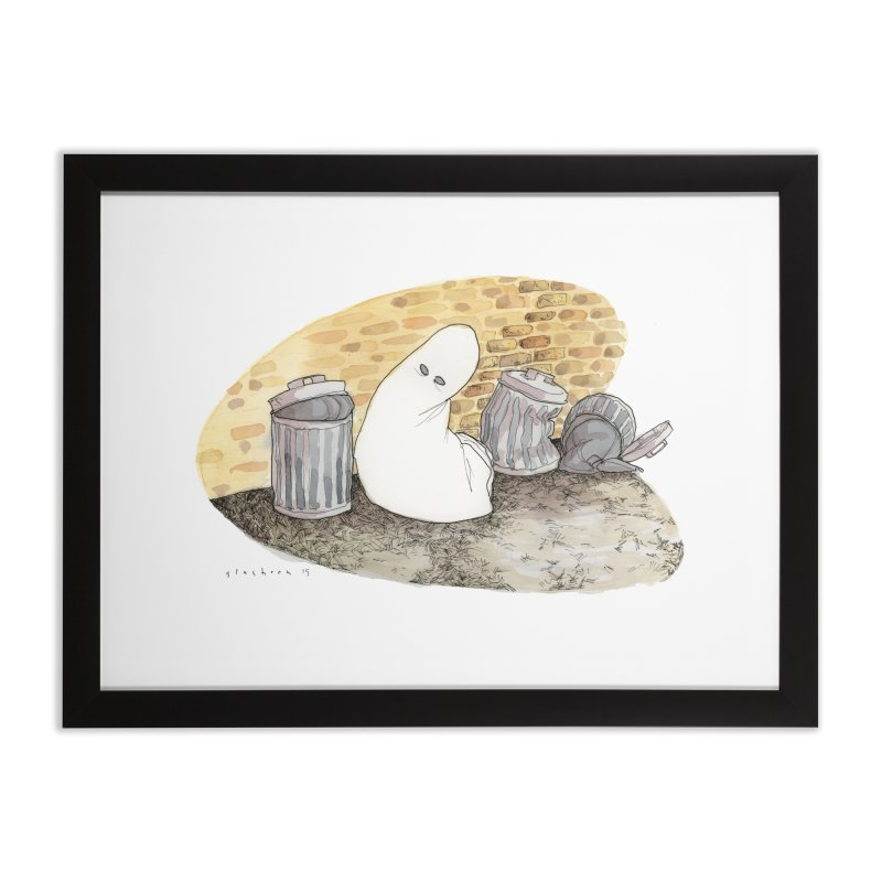 Throw Out, Give Up [the ghost] Home Framed Fine Art Print by Katiecrimespree's Ye Olde Shirt Shoppe