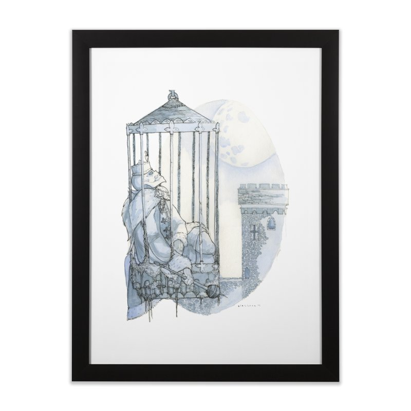 King for a Lifetime Home Framed Fine Art Print by Katiecrimespree's Ye Olde Shirt Shoppe