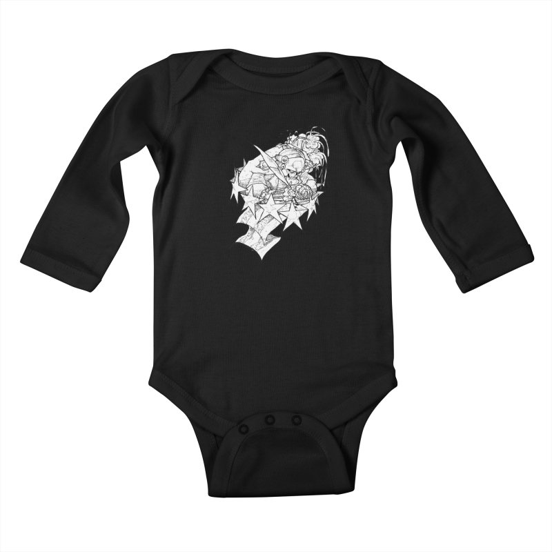 July 1st, 1776 [The First Welfare Check] Kids Baby Longsleeve Bodysuit by Katiecrimespree's Ye Olde Shirt Shoppe