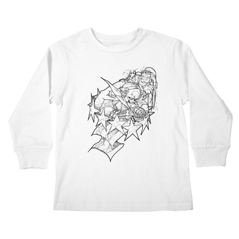 July 1st, 1776 [The First Welfare Check] Kids Longsleeve T-Shirt by Katiecrimespree's Ye Olde Shirt Shoppe