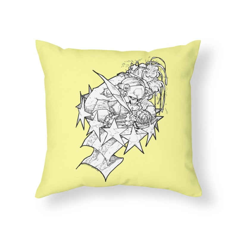 July 1st, 1776 [The First Welfare Check] Home Throw Pillow by Katiecrimespree's Ye Olde Shirt Shoppe