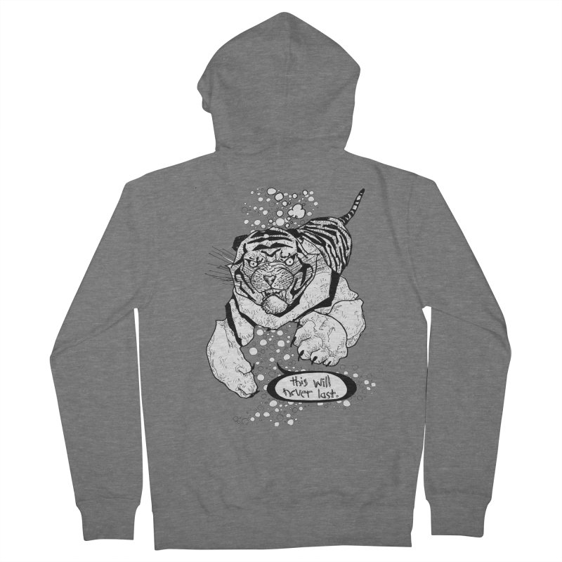 Neverlast Men's Zip-Up Hoody by Katiecrimespree's Ye Olde Shirt Shoppe