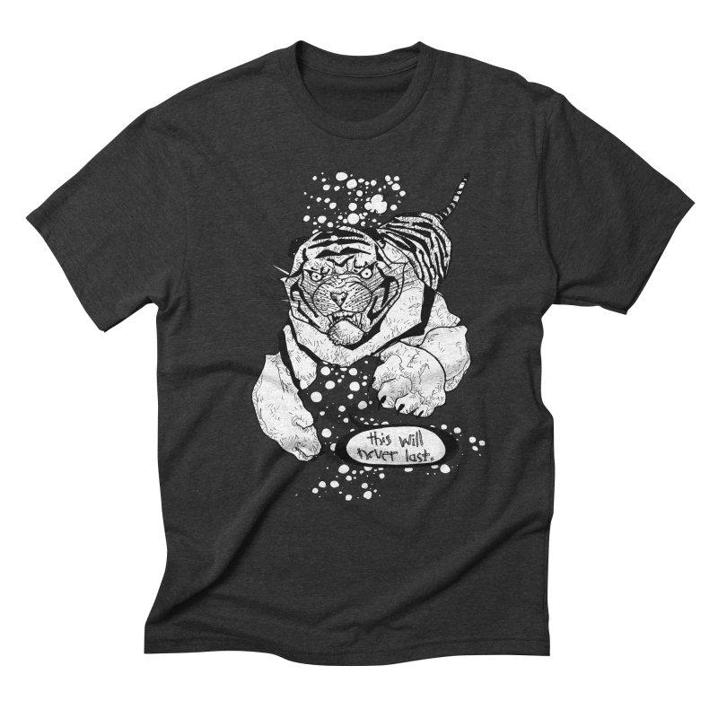 Neverlast Men's Triblend T-Shirt by Katiecrimespree's Ye Olde Shirt Shoppe