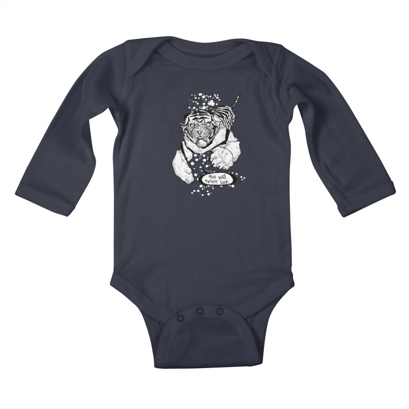 Neverlast Kids Baby Longsleeve Bodysuit by Katiecrimespree's Ye Olde Shirt Shoppe