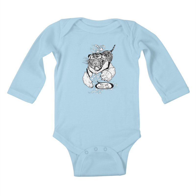 Neverlast Kids Baby Longsleeve Bodysuit by Katiecrimespree's Ye Olde Shirt Shoppe