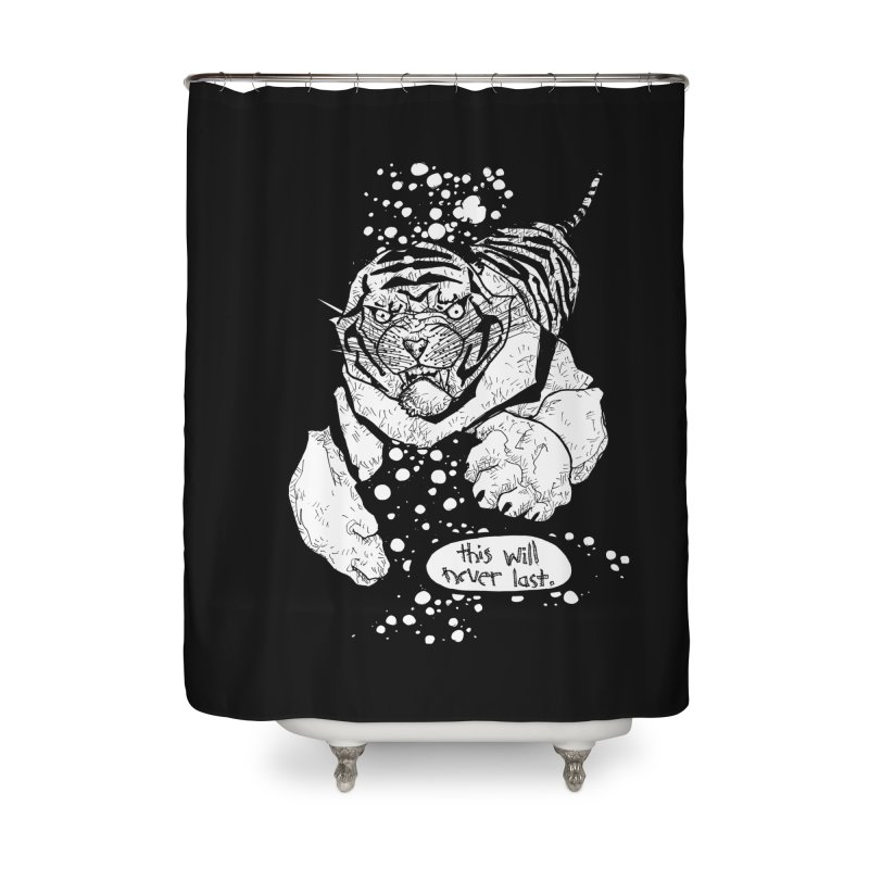 Neverlast Home Shower Curtain by Katiecrimespree's Ye Olde Shirt Shoppe