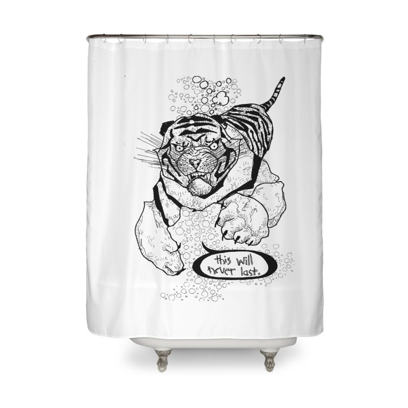 Neverlast Home Shower Curtain by Katiecrimespree's Ye Olde Shirt Shoppe
