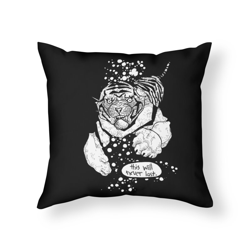 Neverlast Home Throw Pillow by Katiecrimespree's Ye Olde Shirt Shoppe