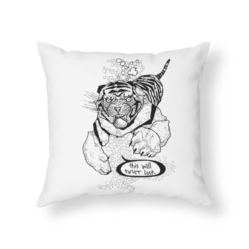 Neverlast Home Throw Pillow by Katiecrimespree's Ye Olde Shirt Shoppe