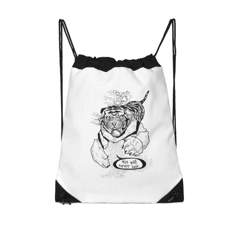 Neverlast Accessories Drawstring Bag Bag by Katiecrimespree's Ye Olde Shirt Shoppe