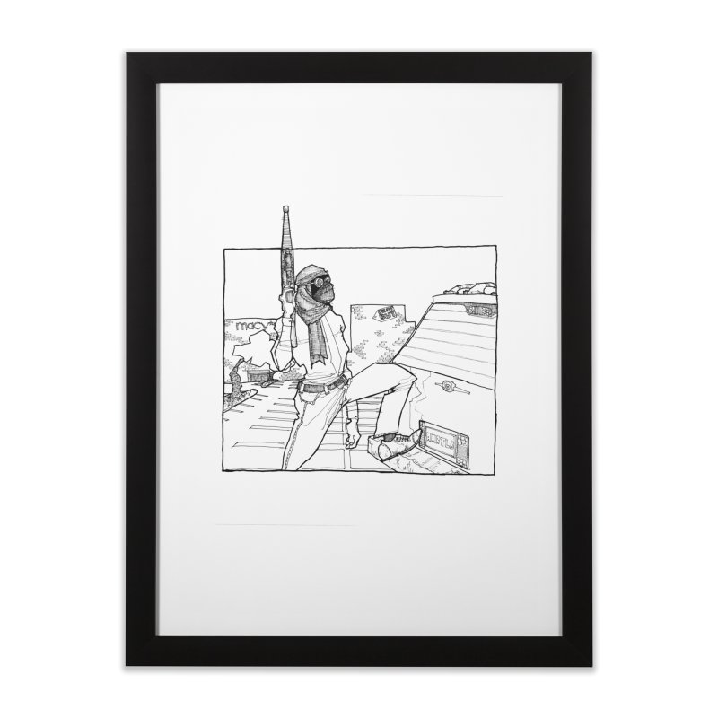 A.T. Home Framed Fine Art Print by Katiecrimespree's Ye Olde Shirt Shoppe
