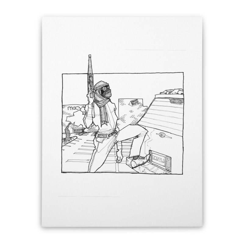 A.T. Home Stretched Canvas by Katiecrimespree's Ye Olde Shirt Shoppe