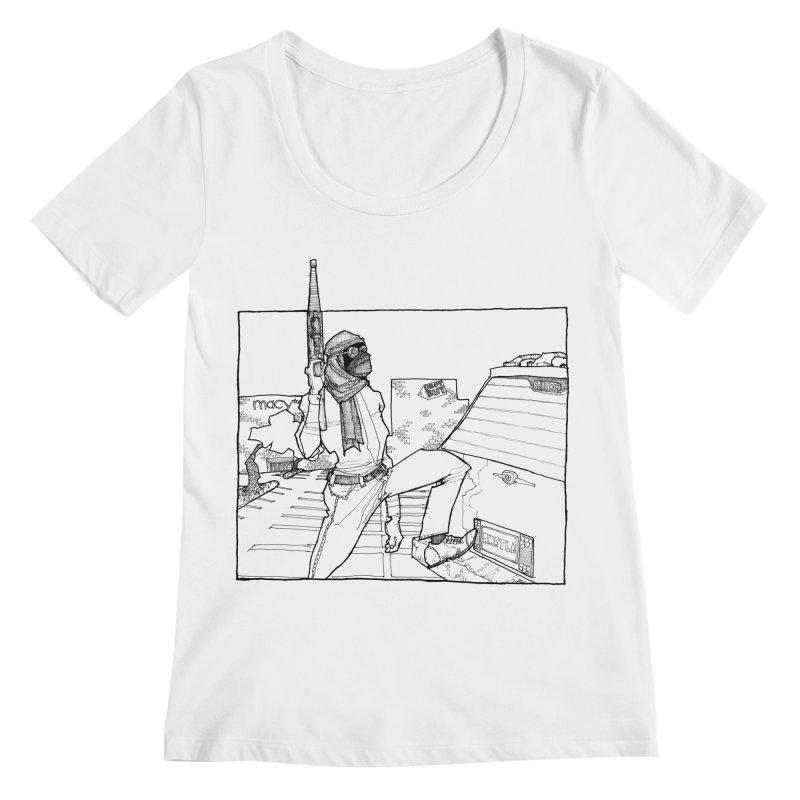 A.T. Women's Regular Scoop Neck by Katiecrimespree's Ye Olde Shirt Shoppe
