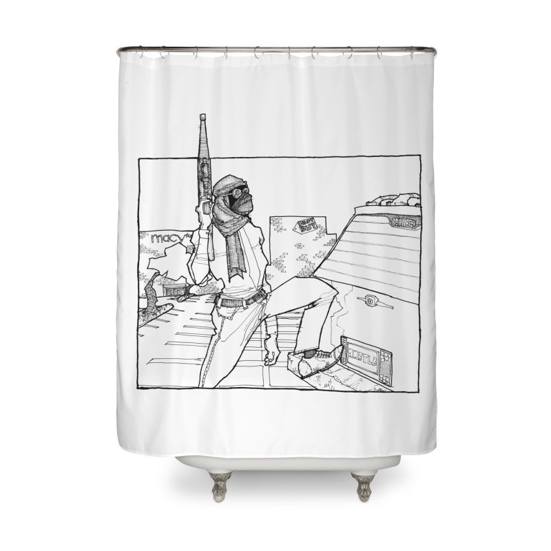 A.T. Home Shower Curtain by Katiecrimespree's Ye Olde Shirt Shoppe