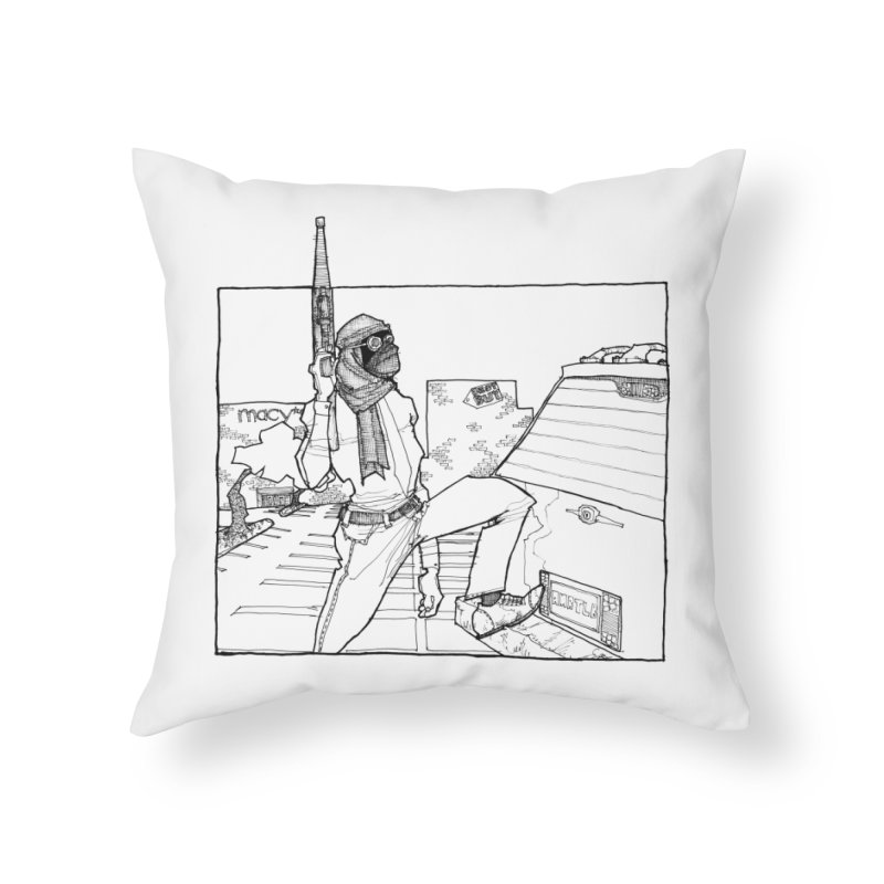 A.T. Home Throw Pillow by Katiecrimespree's Ye Olde Shirt Shoppe
