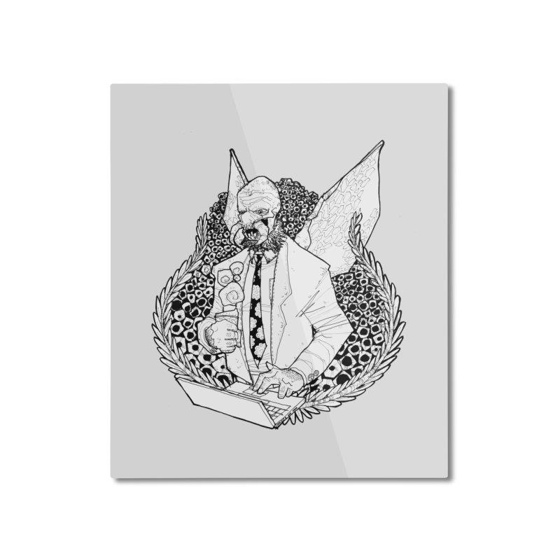 Bizzy Bee Home Mounted Aluminum Print by Katiecrimespree's Ye Olde Shirt Shoppe
