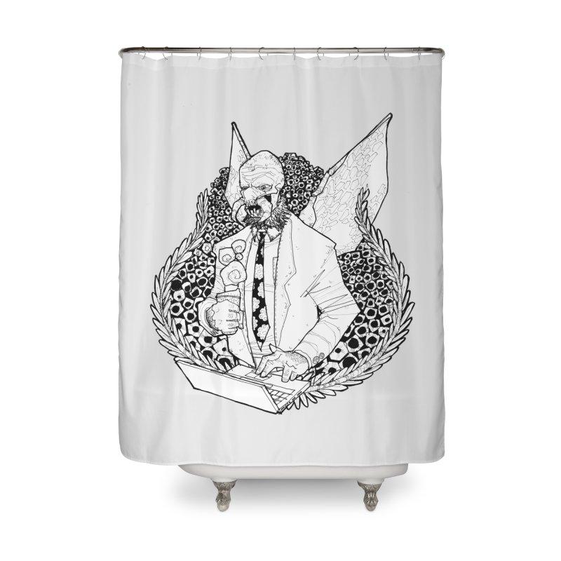 Bizzy Bee Home Shower Curtain by Katiecrimespree's Ye Olde Shirt Shoppe