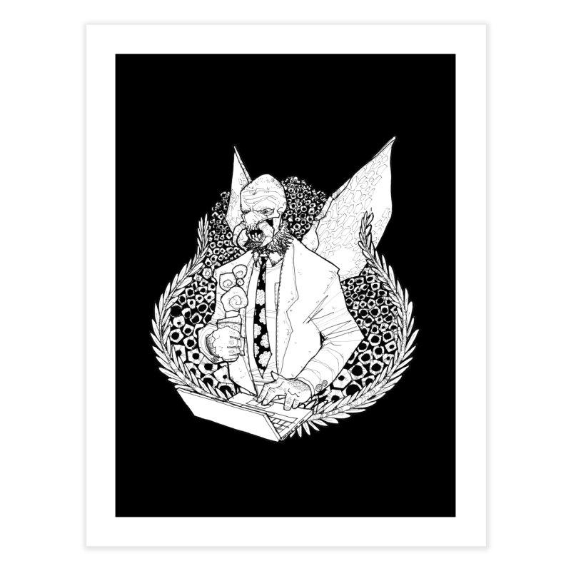 Bizzy Bee Home Fine Art Print by Katiecrimespree's Ye Olde Shirt Shoppe