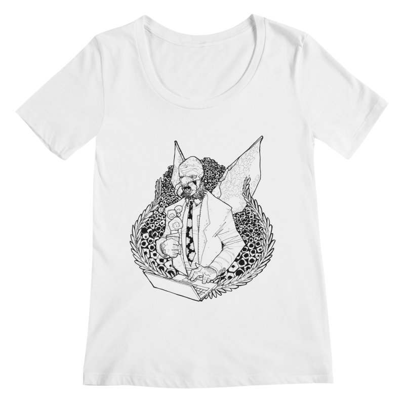 Bizzy Bee Women's Regular Scoop Neck by Katiecrimespree's Ye Olde Shirt Shoppe