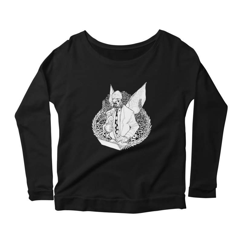 Bizzy Bee Women's Longsleeve Scoopneck  by Katiecrimespree's Ye Olde Shirt Shoppe