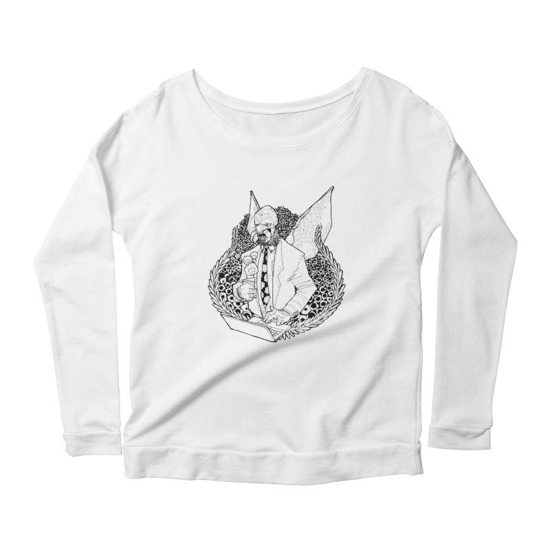 Bizzy Bee Women's Scoop Neck Longsleeve T-Shirt by Katiecrimespree's Ye Olde Shirt Shoppe