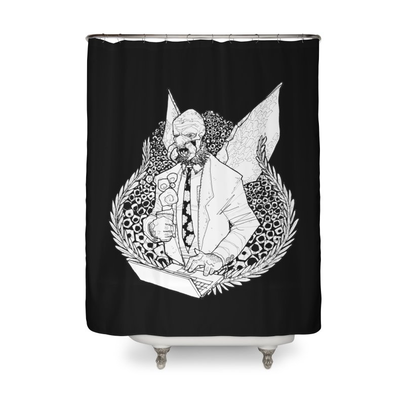 Bizzy Bee Home Shower Curtain by Katiecrimespree's Ye Olde Shirt Shoppe