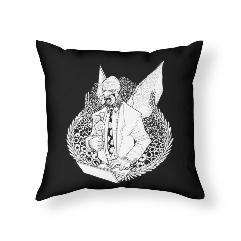 Bizzy Bee Home Throw Pillow by Katiecrimespree's Ye Olde Shirt Shoppe