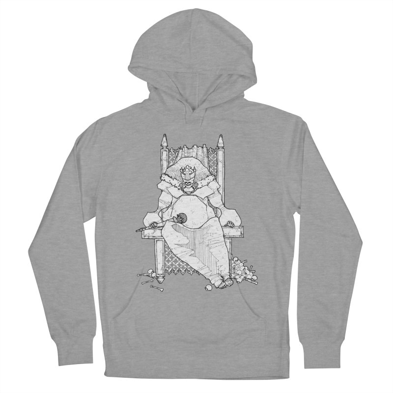 Fat King Men's French Terry Pullover Hoody by Katiecrimespree's Ye Olde Shirt Shoppe