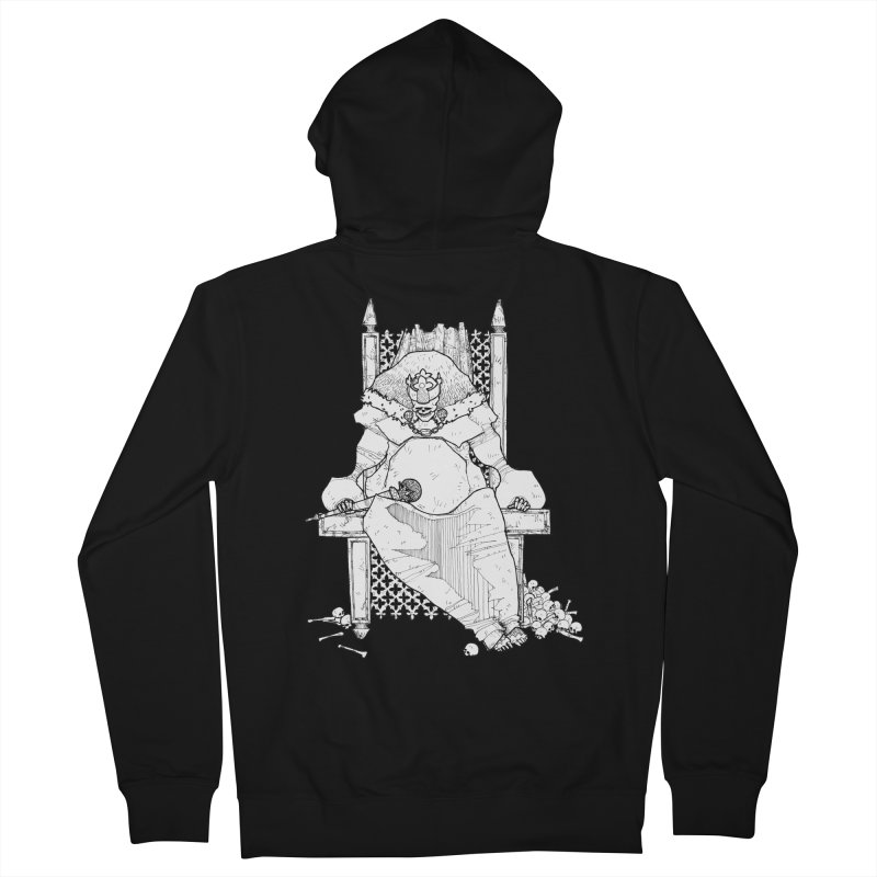 Fat King Women's French Terry Zip-Up Hoody by Katiecrimespree's Ye Olde Shirt Shoppe