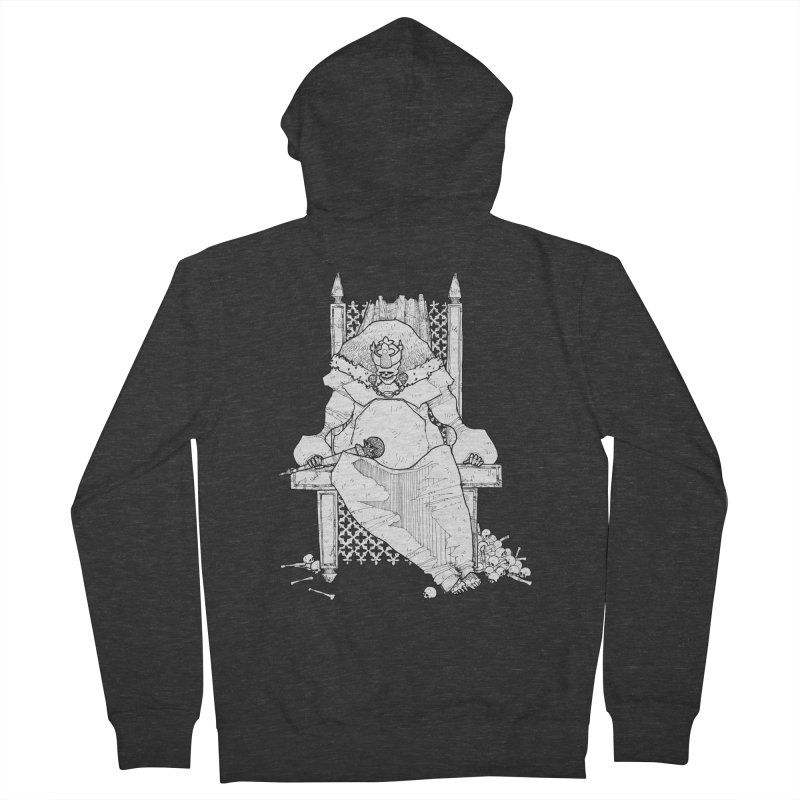Fat King Men's French Terry Zip-Up Hoody by Katiecrimespree's Ye Olde Shirt Shoppe