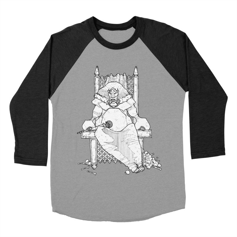Fat King Women's Baseball Triblend Longsleeve T-Shirt by Katiecrimespree's Ye Olde Shirt Shoppe