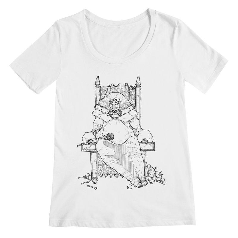 Fat King Women's Scoopneck by Katiecrimespree's Ye Olde Shirt Shoppe